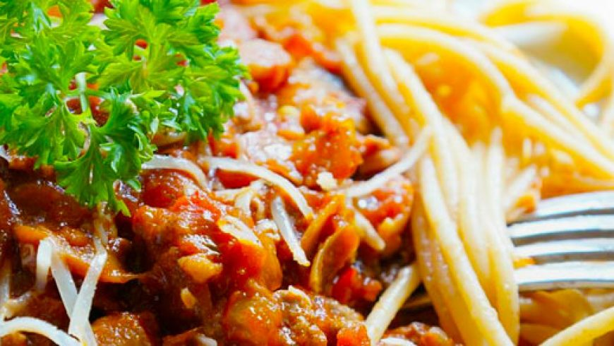 Chilli & Garlic Olive Oil Spaghetti Bolognese