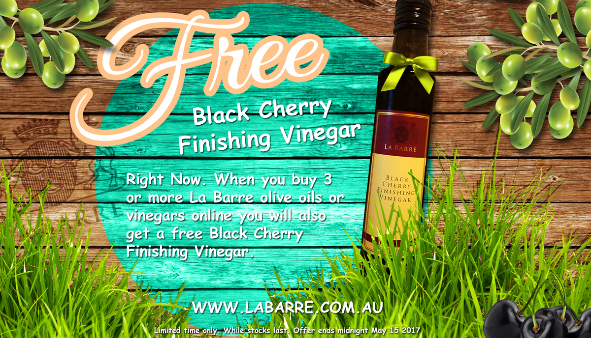 free black cherry finishing vinegar