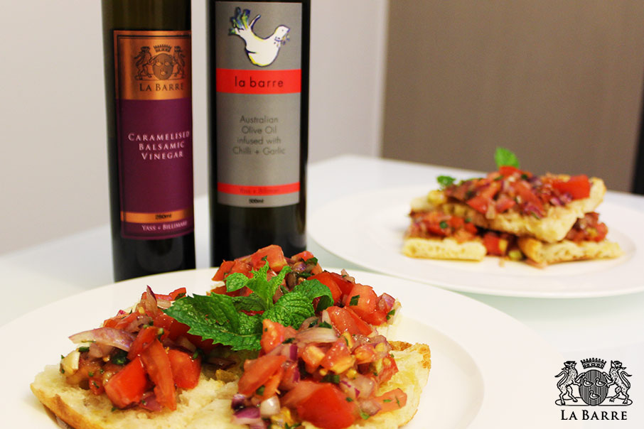 bruscetta with garlic and chilli infused olive oil