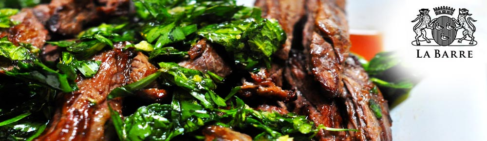 rosemary and garlic infused skirt steak